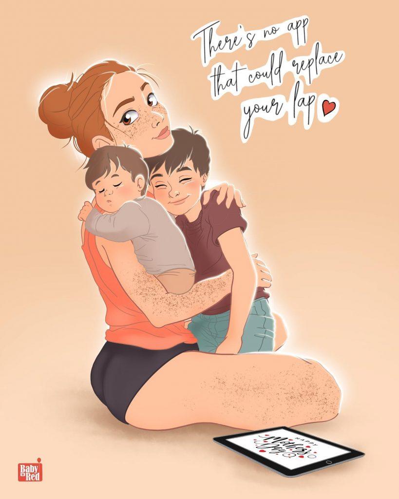 baby in red persoonlijk geboortekaartje